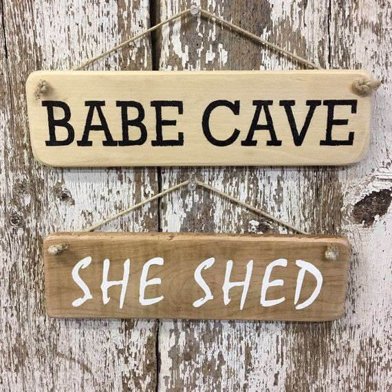 Babe Cave Sign She Shed Sign Man Cave Sign Man Cave Decor Girl Cave Gifts She Shed Decor Gift For Wo