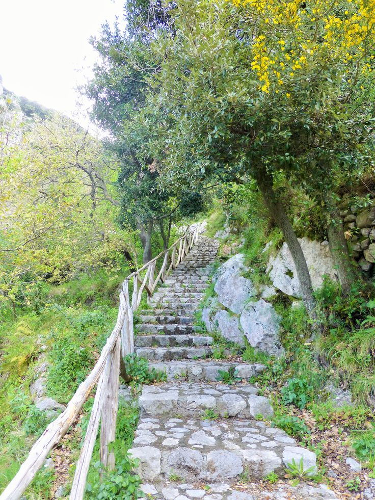 Stairs - lots of stairs, but when you're up on the actual path - very easy