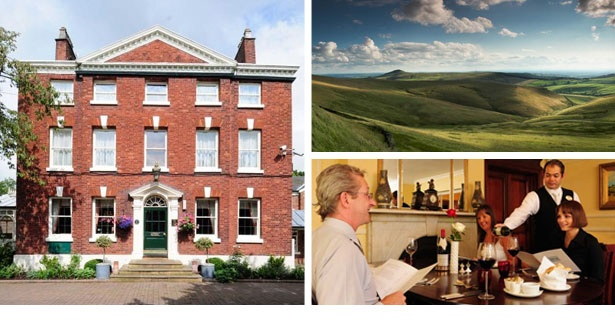 Enjoy a Georgian country house getaway for two including breakfast – ideal for exploring Manchester city and the Peak District