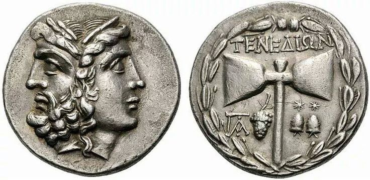 Ancient Illyrian Silver Coin With The Head Of Zeus Hera
