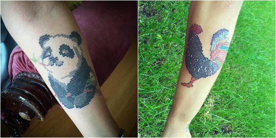 Tatuajes en punto de cruz - animales