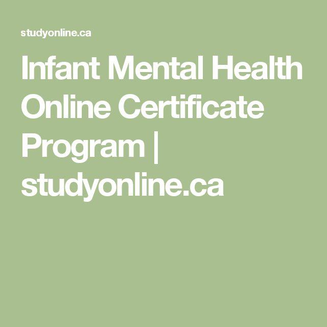 Infant Mental Health Online Certificate Program | studyonline.ca