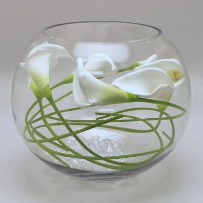 "Jumbo Bubble Bowl Glass Vases 1pc 16"" Body Diameter Fish Bowl Plant Terrarium 