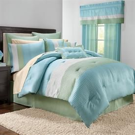 8 Pc Essence Comforter Set In Sea Green Dream Home Bedrooms Pinterest Comforter