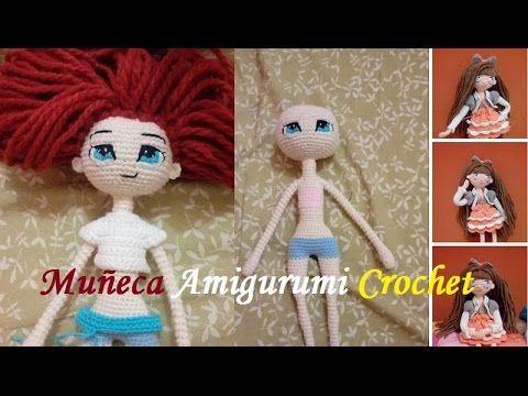 Como hacer los ojos de muñeca a crochet - YouTube