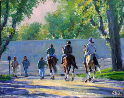 Original Paintings of Keeneland Race Track by Elin Pendleton