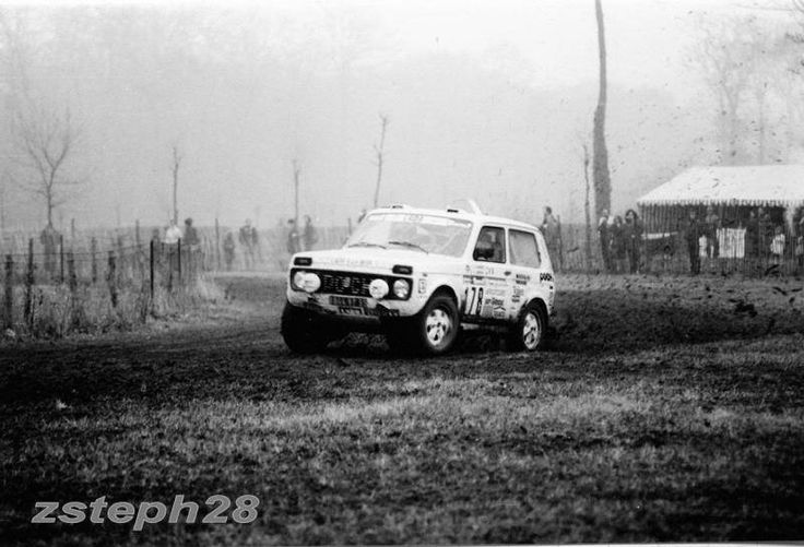 Lada Niva in a rally