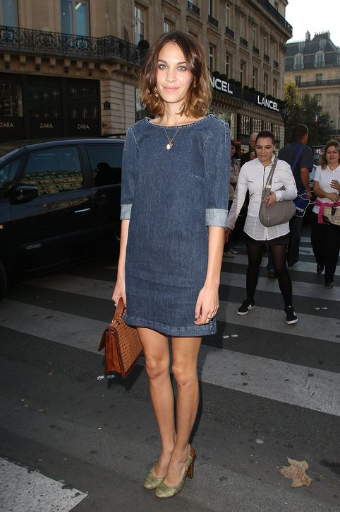 Stella McCartney casual denim shift dress