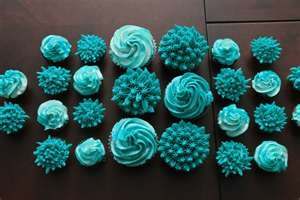 Teal Blue Cupcakes