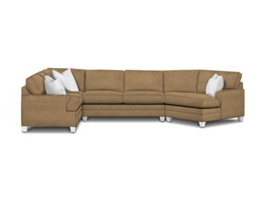 Shop For Bassett Right Cuddler Sectional, And Other Living Room Sectionals  At Furniture Warehouse Showroom, LLC In Lyman, SC.