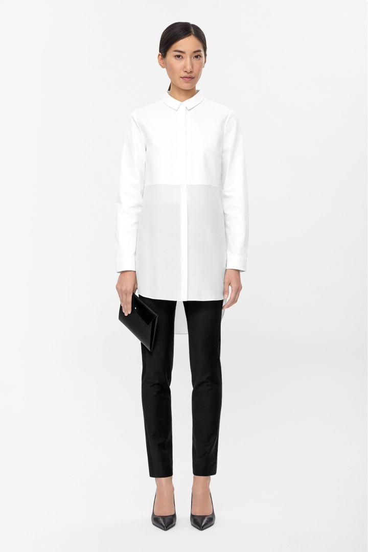 COS | Silk panel shirt dress