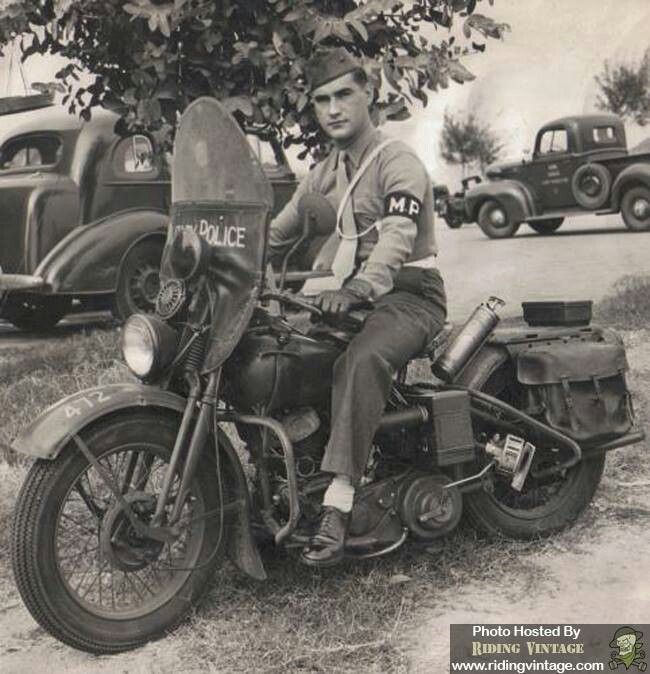 Harley Davidson WLA 45 Military Police Motorcycle. WW11 era....