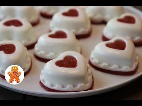 Сметанное Суфле с Клубникой ✧ Сердечки Валентинки - YouTube