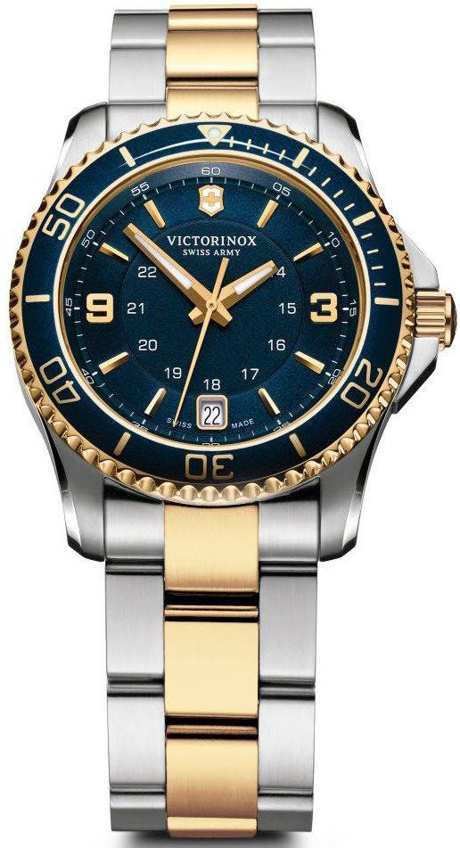 @vxswissarmy  Watch Maverick Ladies #add-content #basel-17 #bezel-unidirectional #bracelet-strap-gold-pvd #brand-victorinox-swiss-army #case-material-steel #case-width-34mm #classic #date-yes #delivery-timescale-1-2-weeks #dial-colour-blue #gender-ladies #limited-code #movement-quartz-battery #new-product-yes #official-stockist-for-victorinox-swiss-army-watches #packaging-victorinox-swiss-army-watch-packaging #style-dress #subcat-maverick #supplier-model-no-241790 #warranty-victorino...