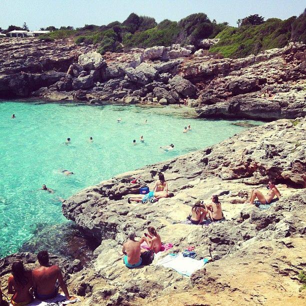 Es Caló Blanc in Sant Lluís, Islas Baleares