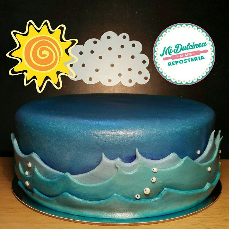 Torta temática olas del mar