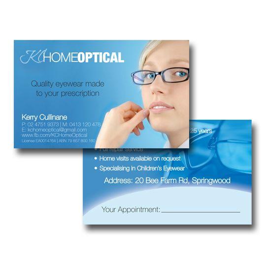 KC Home Optical Business Cards Design by www.concept-designs.com.au. For more designs visit our website.