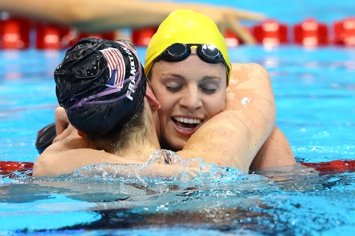 Emily Seebohm takes silver in the Women's 100m Backstroke on Day 3 of the London 2012 Olympic Games