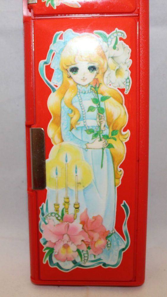 Vintage Japanese Anime Manga Candy Candy Soft Magnetic Pencil Case Red Venice