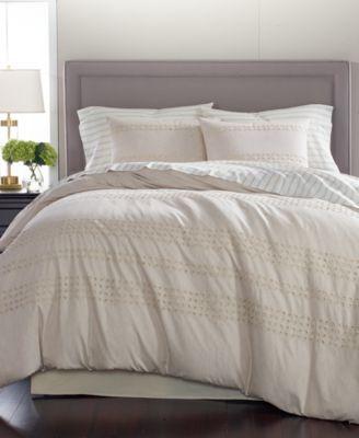 Martha Stewart Collection Eyelet Stripe 8-Pc.  King Comforter Set, Created for Macy's | macys.com