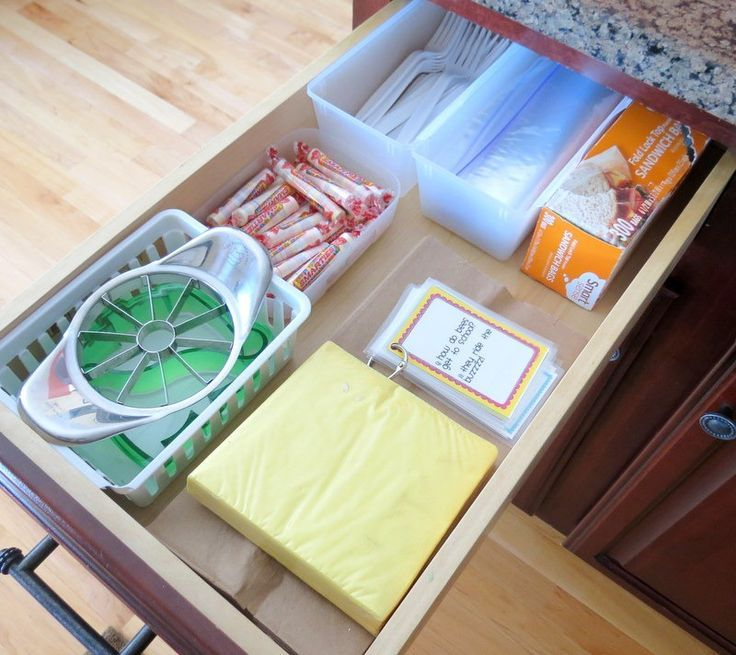 Creating an Organized Lunch Station   School Lunch Ideas For Kids  