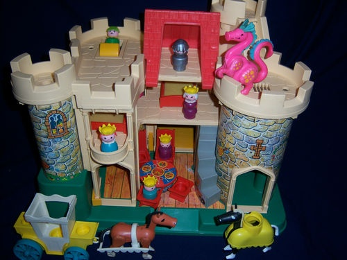 Fisherprice 70's castle. I loved this one of my favorite