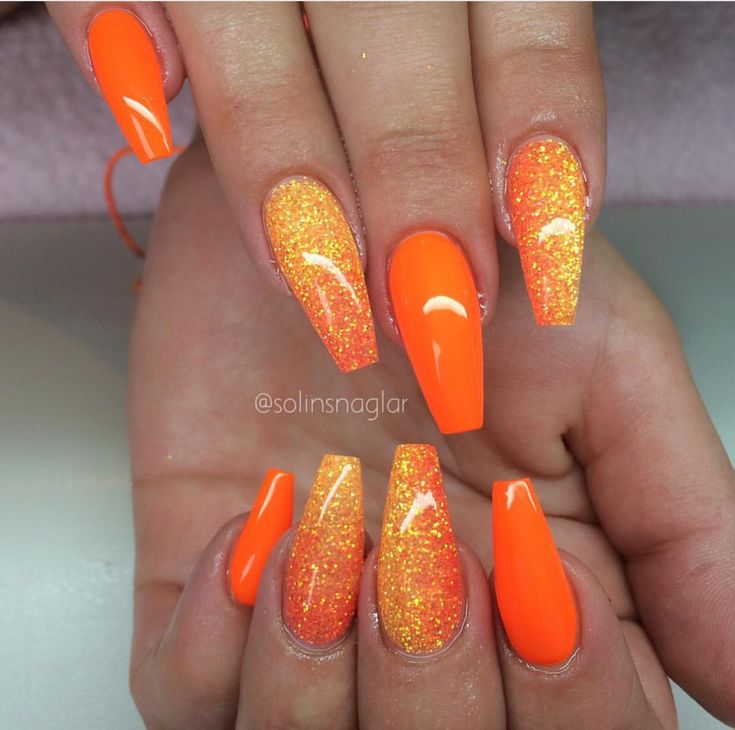 Best 25+ Orange nail art ideas on Pinterest | Orange nail ...