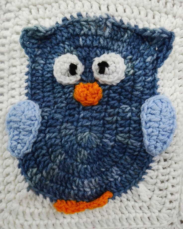 Free Crochet Pattern For Owl Afghan : Owl Afghan & Pillow Set Crochet Pattern - Haakpatronen ...