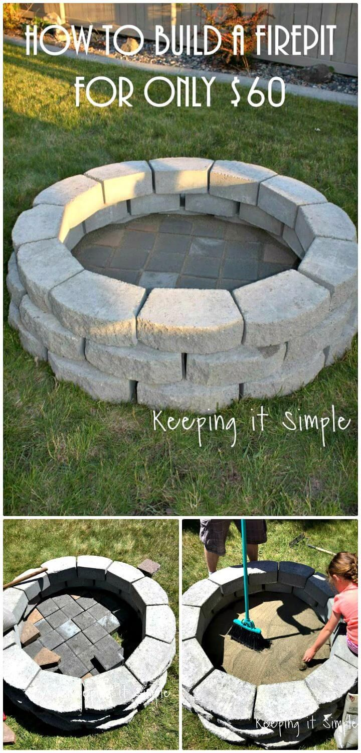 How To Build A Fire Pit For Only $60 - 62 Fire Pit Ideas to DIY Cheap Fire Pit for Your Garden ...