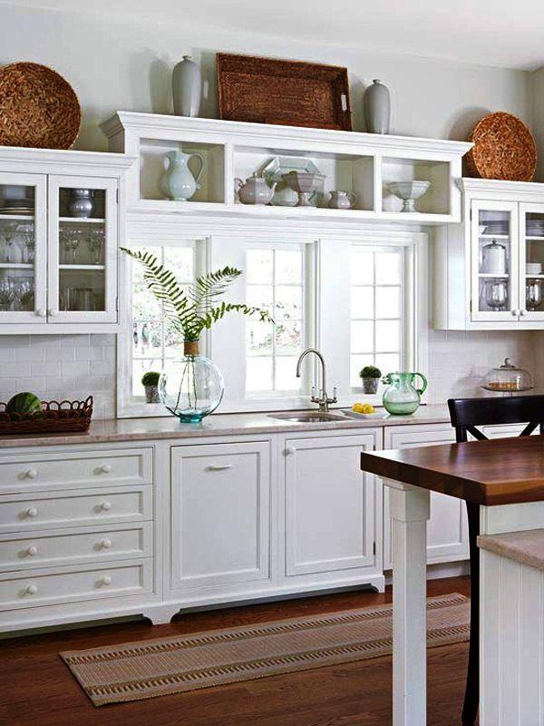 Ideas para decorar encima de los gabinetes de la cocina | cocinas ...