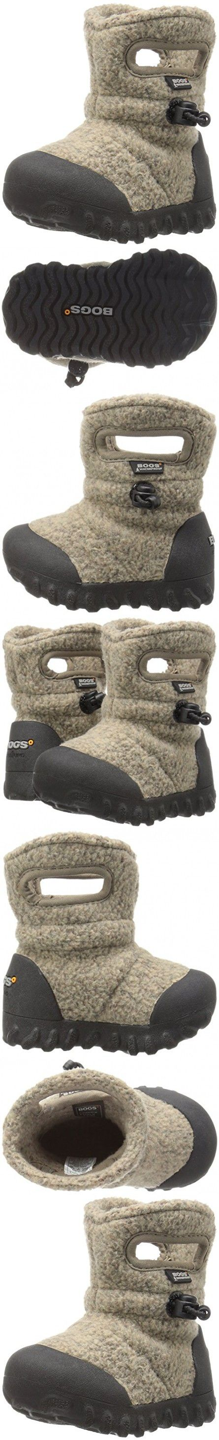 Bogs Baby B-MOC Fleece Winter Snow Boot (Toddler),  Cocoa, 8 M US Toddler
