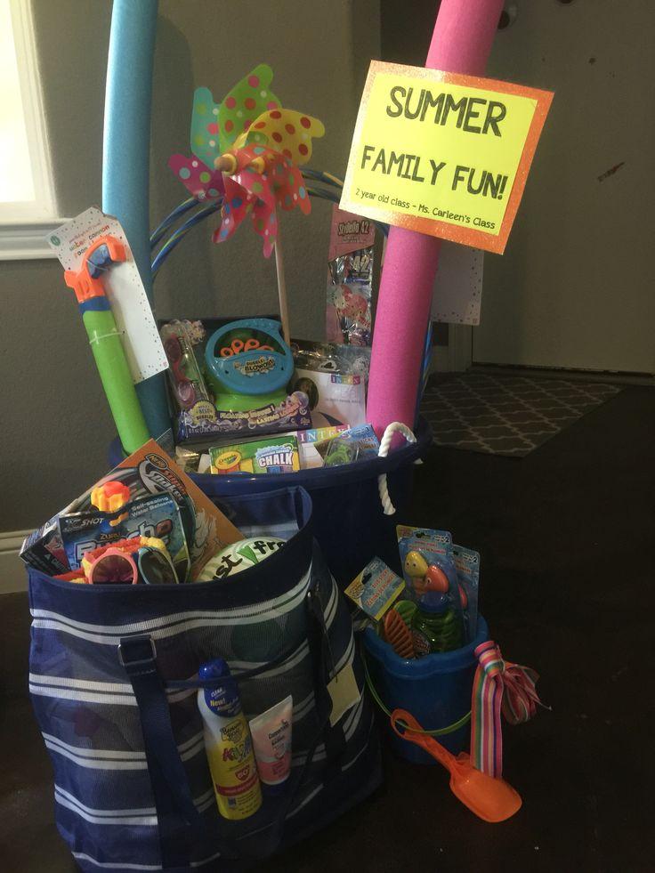Summer family fun silent auction basket
