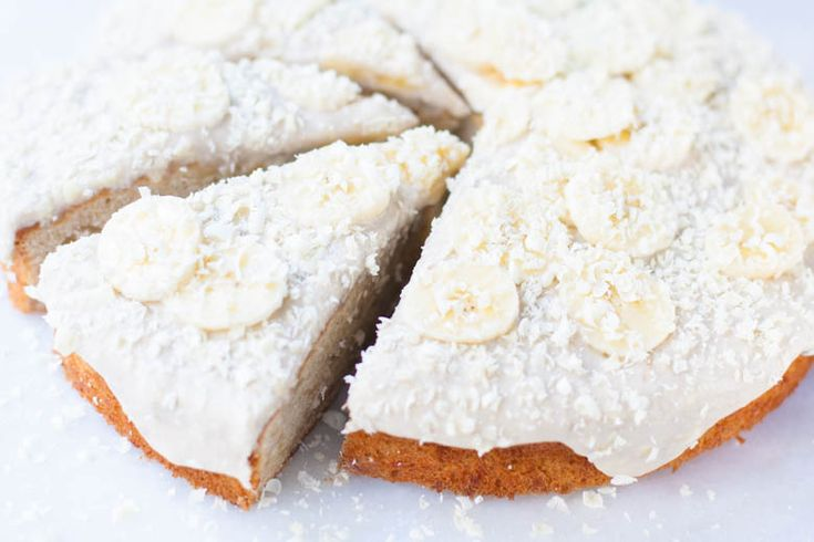 Bananencake met witte chocolade
