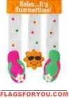Summertime Flip Flops Applique Garden Flag