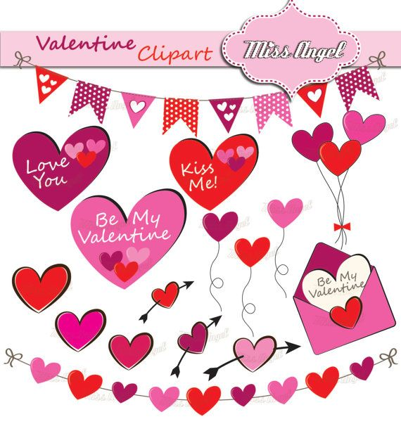 Valentine\'s Day Borders 12 romantic borders by MissAngelClipArt ...