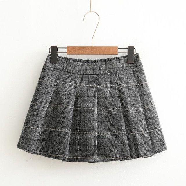 Plaid Uniform Skirts Autumn Winter Japanese Mori Girl Style Vintage A-line Pleated Skirt School Uniform Girls Short Skirts