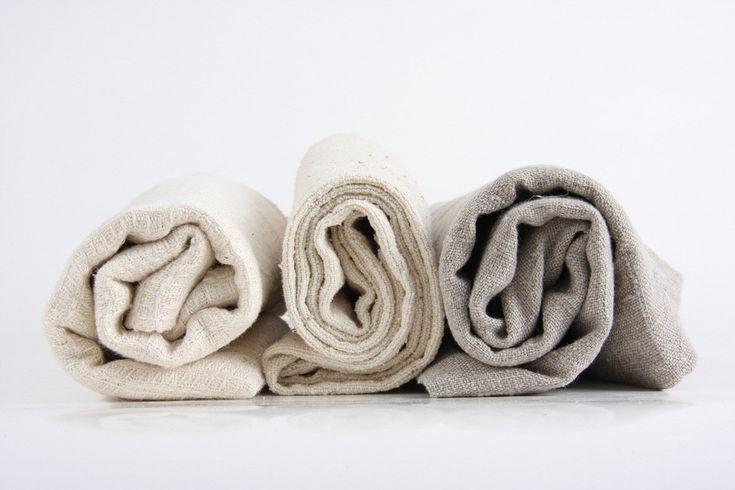 """natural towel 20x20"""", handmade from natural linen, hemp or wild-silk"""