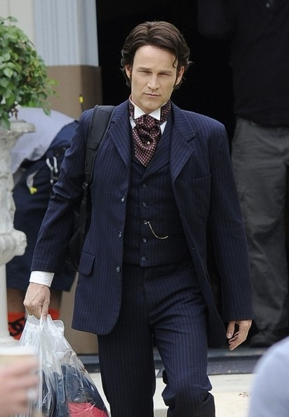"""Stephen Moyer on the set of his show """"True Blood"""" in Hancock Park."""