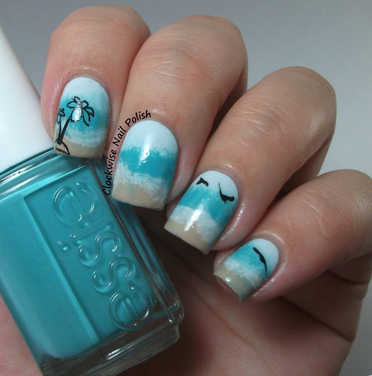 Playful Polishes June Nail Art Challenge Ocean Nails: 1000+ Images About Sunday Stamping Challenge On Pinterest