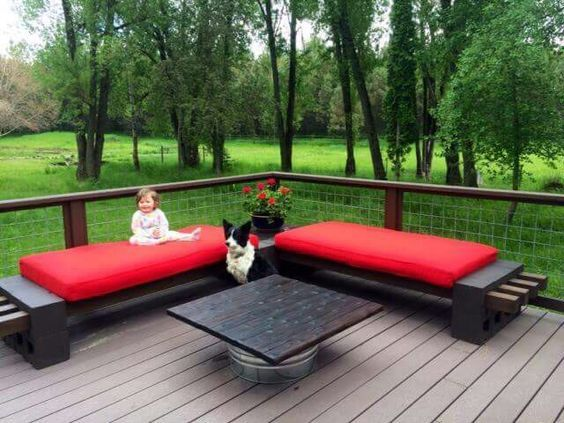 How To Make A Bench From Cinder Blocks: 10 Amazing Ideas | Bench, Patios  And Backyard