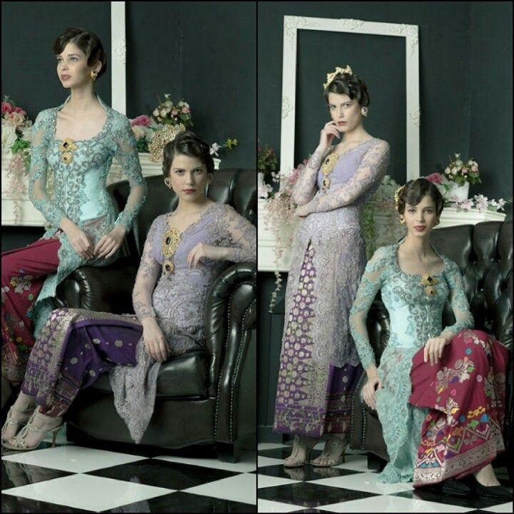 Lavender Purple & Tiffany Blue Wedding Dress Kebaya