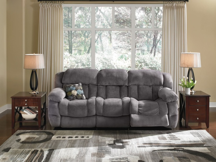 $699.99 Park City Grey Reclining Sofa   Value City Furniture