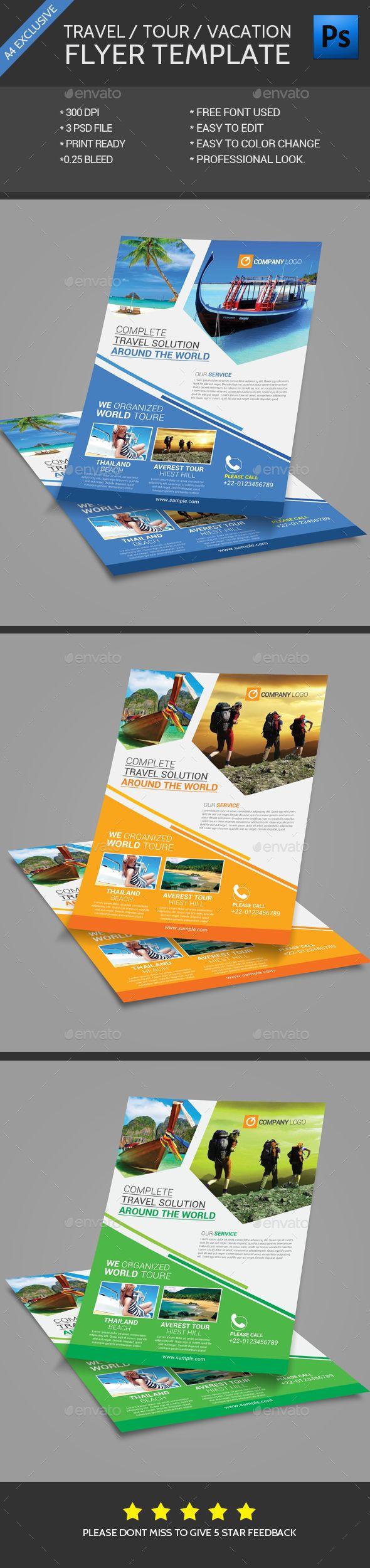 Travel Flyer Template - Flyers Print Templates