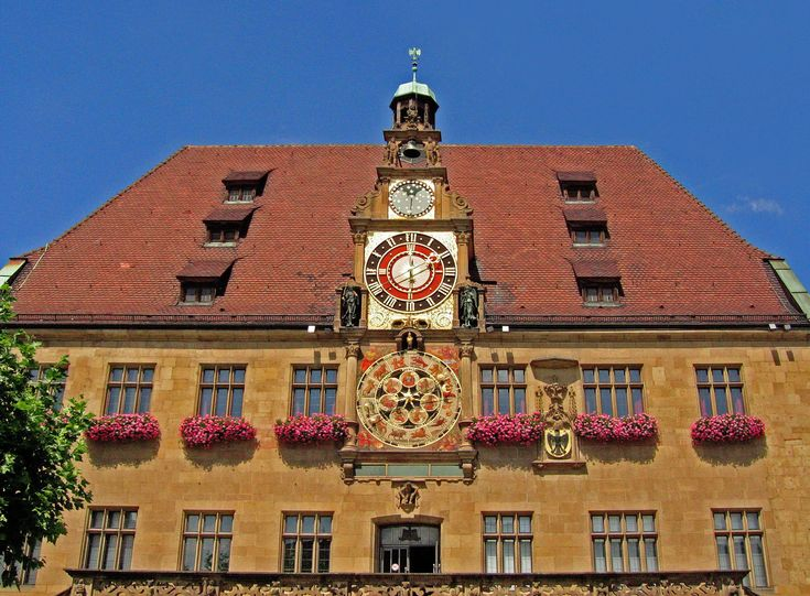 #clock #clock face #fig #germany #heilbronn #historically #old town #town hall #watermark