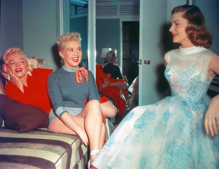Marilyn Monroe, Betty Grable and Lauren Bacall.....EPIC photograph.