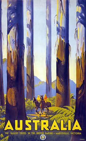 Vintage Marysville Victoria Australia Travel Posters Prints