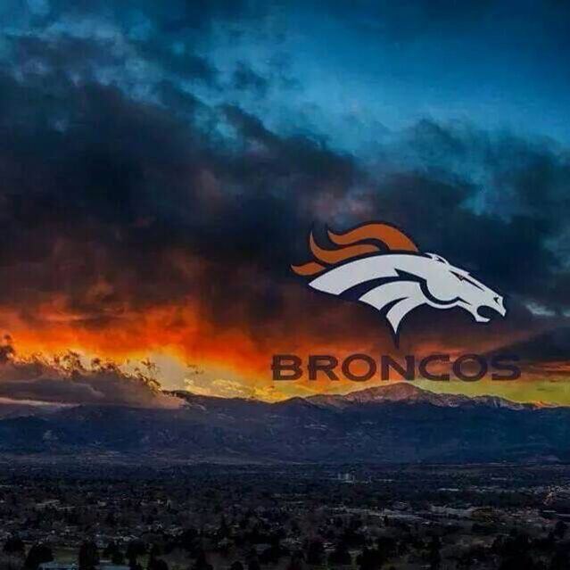 Denver Broncos sunset .