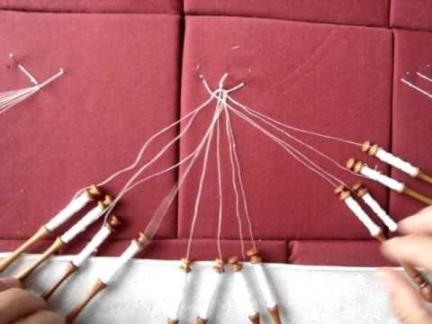 Bobbin lace connecting braids