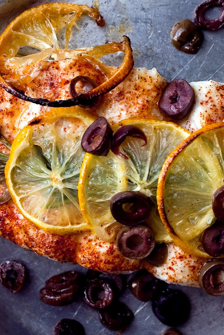 (Use 6-ounce fillets) Roasted Halibut with Lemons, Olives and Rosemary - 10 minutes, 5 ingredients (plus salt & pepper)! Easy enough for a weeknight, elegant enough for guests.