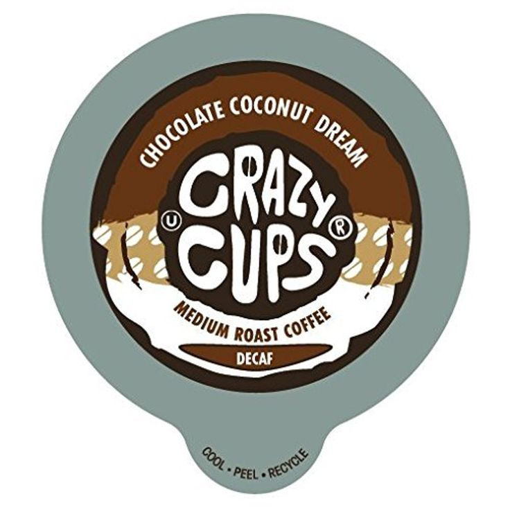 Crazy Cups Decaf Chocolate Coconut Dream Flavored Coffee